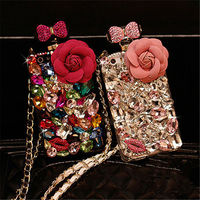 For IPhone 5 6 6S 7 8 Plus X Luxury Bling Diamond Bow Bowknot Crystal Rhinestone