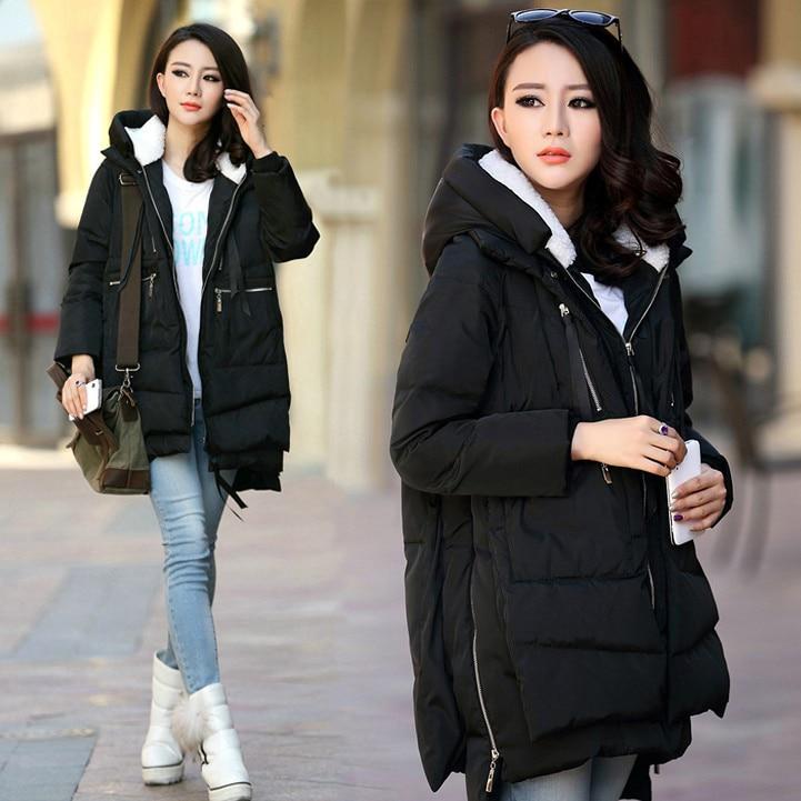 ФОТО New 2017  Winter Coat Women  Down cotton Jacket women's Parka With Hood women winter coats free shipping
