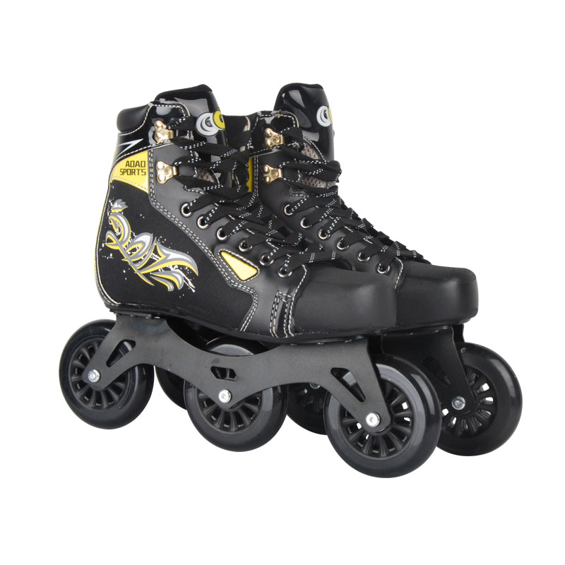AOAO 2018 NEW Cool Inline Professional Adult Slalom Ice Speed Skating Shoes Adjustable Washable Paint PU Wheels Adulto Men 1 pair adult teenagers ice skate roller skating shoes adjustable washable pu wheels large size