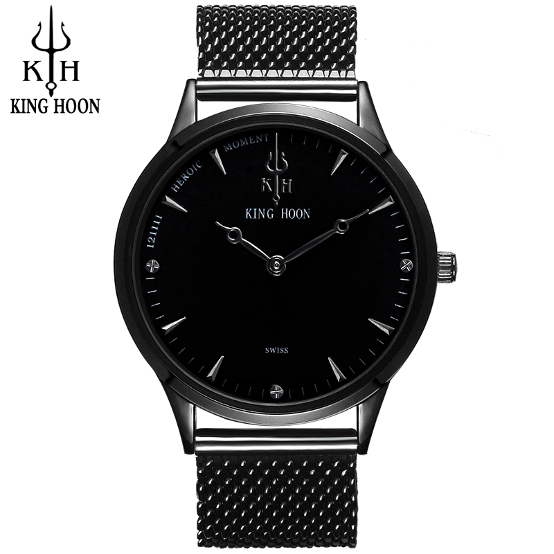 KH New Top Luxury Watch Men Brand Men's Watches Ultra Thin Stainless Steel Mesh Band Quartz Wristwatch Fashion casual watch bestdon new top luxury watch men brand men s watches ultra thin stainless steel mesh band quartz wristwatch fashion casual clock