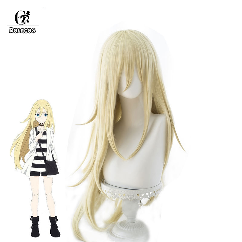 ROLECOS Angels of Death Rachel Cosplay Hair Rachel GardnerCosplay Headwear Costume Satsuriku no Tenshi 80CM Women