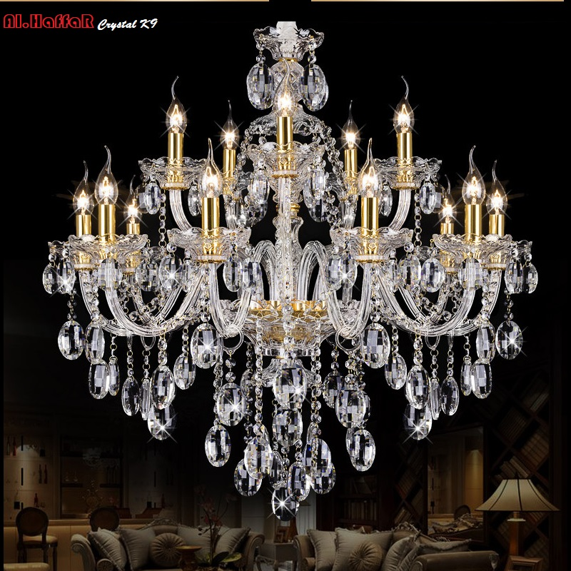 Light Chandelier Modern crystal Large chandeliers Luxury Modern Chandelier Lighting fashion Luxury Gold transparent K9 Crystal