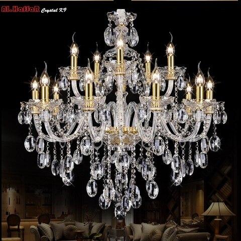 luz do candelabro de cristal moderna grande lustres luxo moderno lustre iluminacao moda luxo ouro