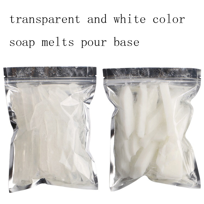 500g Clear White Transparent Soap Melts and Pour Soap Base High Quality DIY Handmade Soaps Raw Making Materials