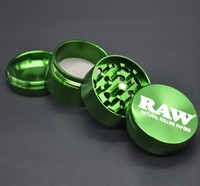 2pcs/lot Diameter 53mm grinder crusher 4 layer Tobacco smoking cigarette grinders multicolor detector herb amoladora for men