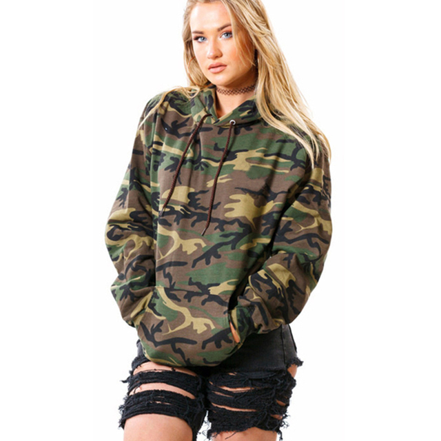 d42b3a1a5f47d4 Army Green Tracksuit for Women Hooded Loose Pullovers Sweatshirts Women  Long Sleeve Thick Hoodies Camouflage Printed