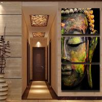 3 Panel HD Printed Oil Painting Colorful Budda Canvas Print Modern Home Decor Wall Art Picture