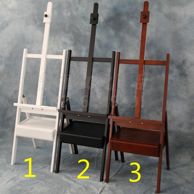 Wood cabinet painting easel with drawer sketch easel exhibition ...