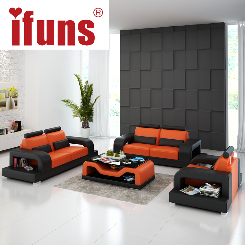Buy ifuns sofa set living room furniture modern leather sectional sofa luxury - Modern living room furniture set ...