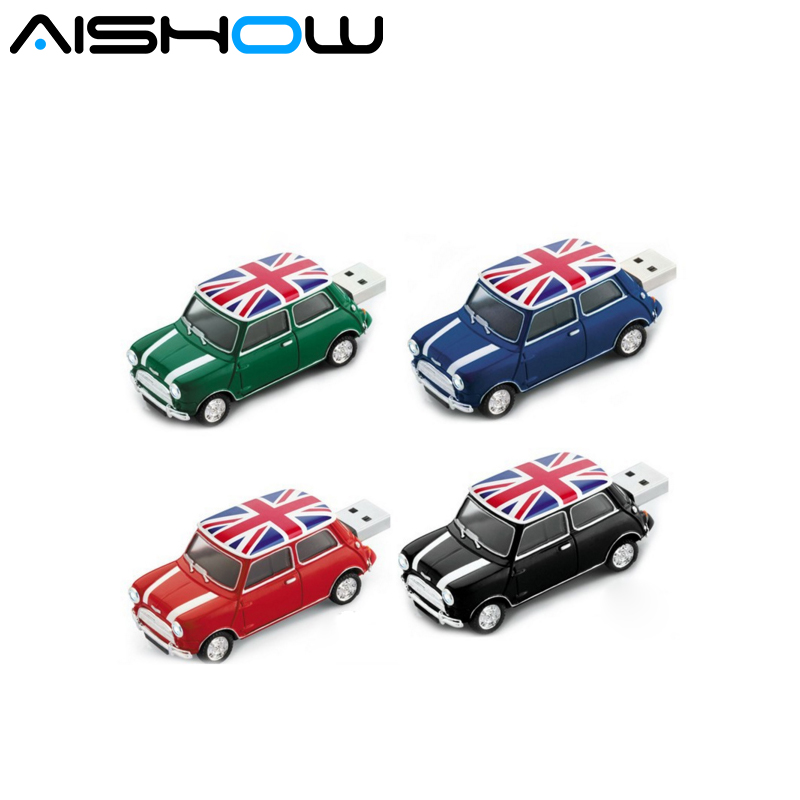 Creative U Disk 8GB 16GB 32GB USB Mini Cooper Cute Mini Car Usb Flash Drive Car Memory Stick Free Shipping