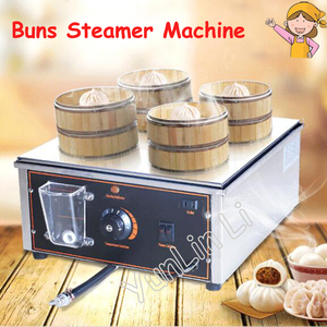 Commercial Electric Food Steamer Desktop Steamed Buns Machine Insulation Steaming Pot Small Steamer Business Equipment