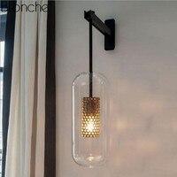 Современные стеклянные настенная лампа нордический настенный светильник бра для ванная комната спальня кухня светильники дома освещение