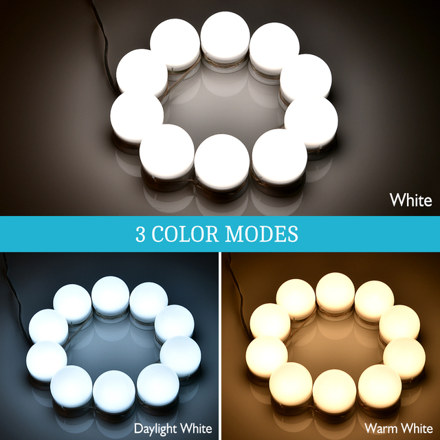 brixini.com - 3-Color Hollywood Vanity Makeup LED Mirror Lights