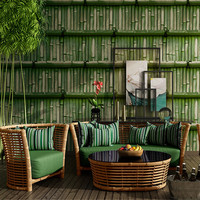 Chinese Green Bamboo Wallpaper for Study Room Waterproof Wallpapers Personalized Coffee Shop Office Decoration