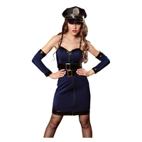 Sexy Police Costume Halloween Costume Woman Role Playing Cop Outfit Female Erotic Braces Dress Sexy Game