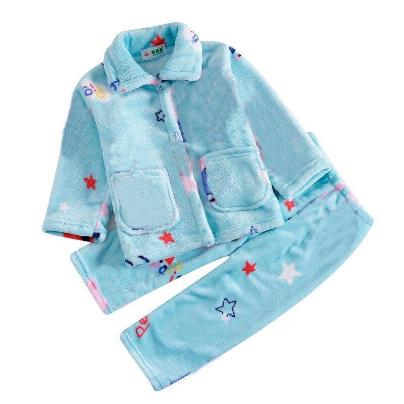Пижама детская пижама комплект из кораллового флиса Детские Для мальчиков и девочек пижама с принтом Детские фланелевые пижамы детские пиж...