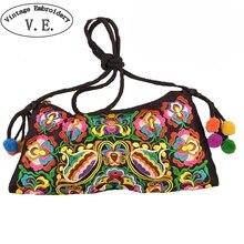 Винтаж Вышивка Национальный для женщин сумки в китайском этническом стиле дамы сумка Тайский индийский Boho повседневное