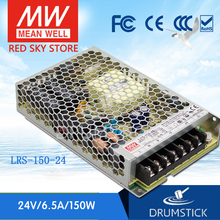 цена на Wholesale price MEAN WELL LRS-150-24 24V 6.5A meanwell LRS-150 156W Single Output Switching Power Supply [Hot5]