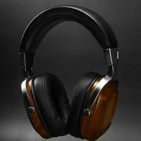 Best BLON BOSSHiFi B8 Dynamic Driver Earphones HiFi Wooden Metal Bass Headphones Over Ear Headset Music For Smartphones Computer