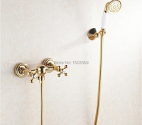 New high quality brass material gold bathroom shower set faucet shower faucet bathroom faucet