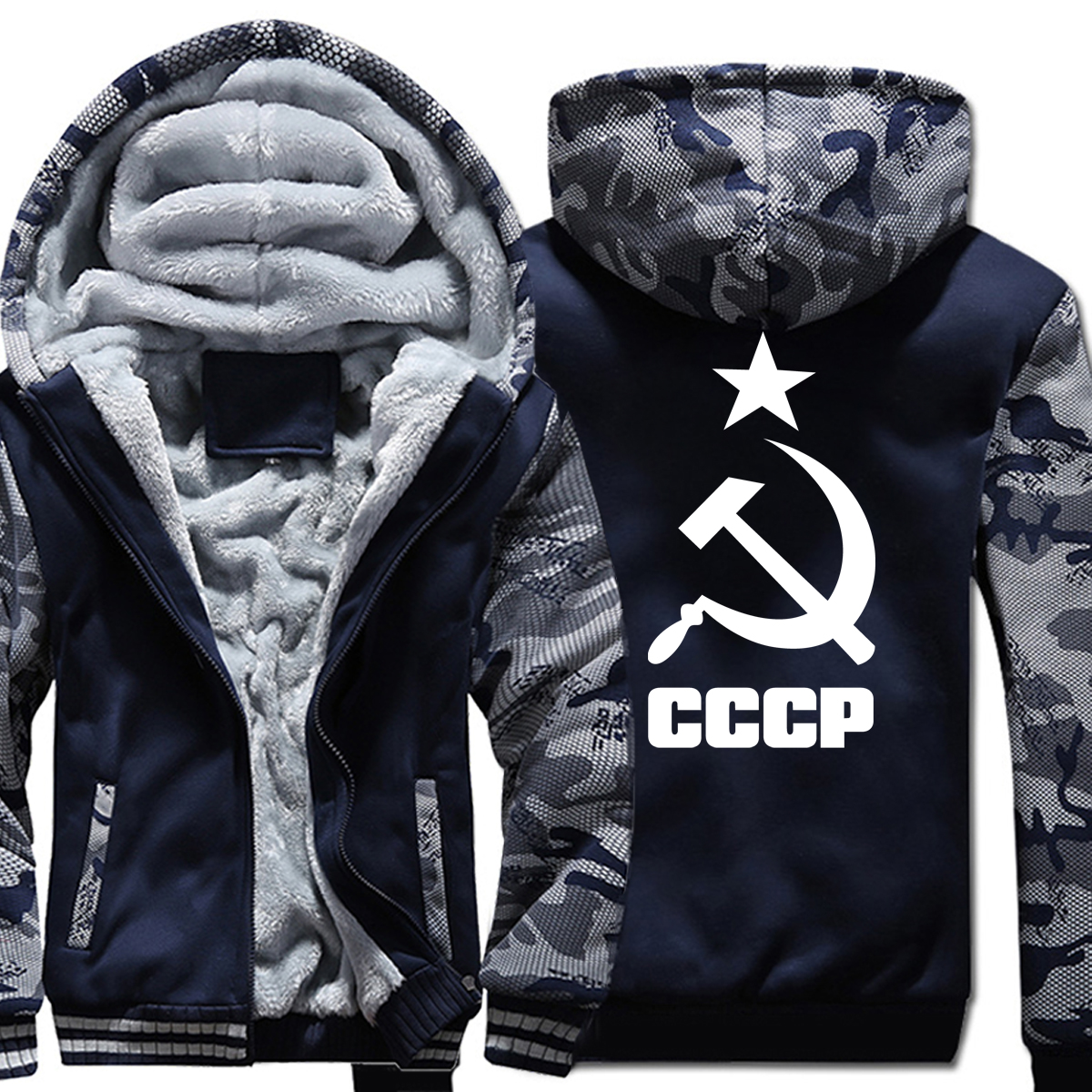 Men Sportswear 2019 Hot Printed Fleece Hoody USSR Soviet Union KGB Men Sweatshirt Hoodies Harajuku Tracksuits For Men Clothing