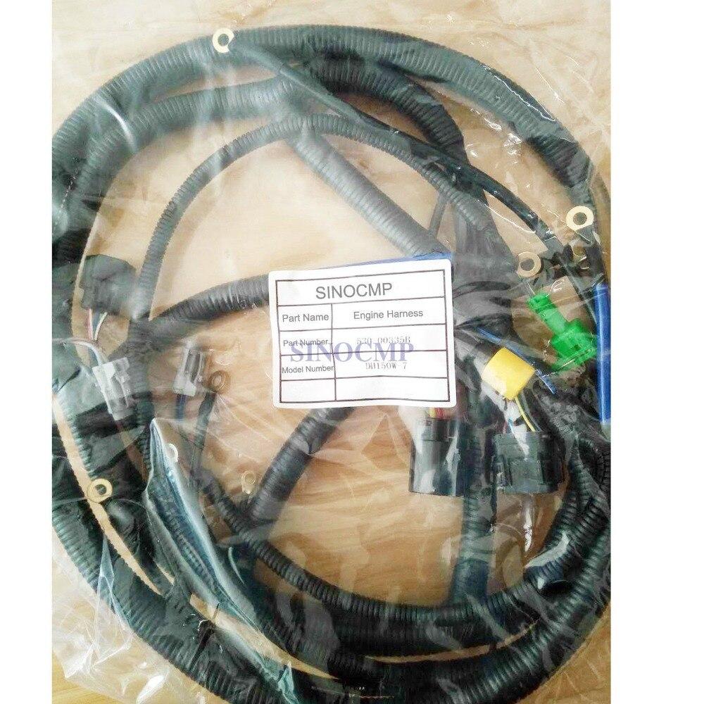 Câblage moteur DH300-7 pour pelle Doosan Daewoo 530-00211A, garantie 3 mois