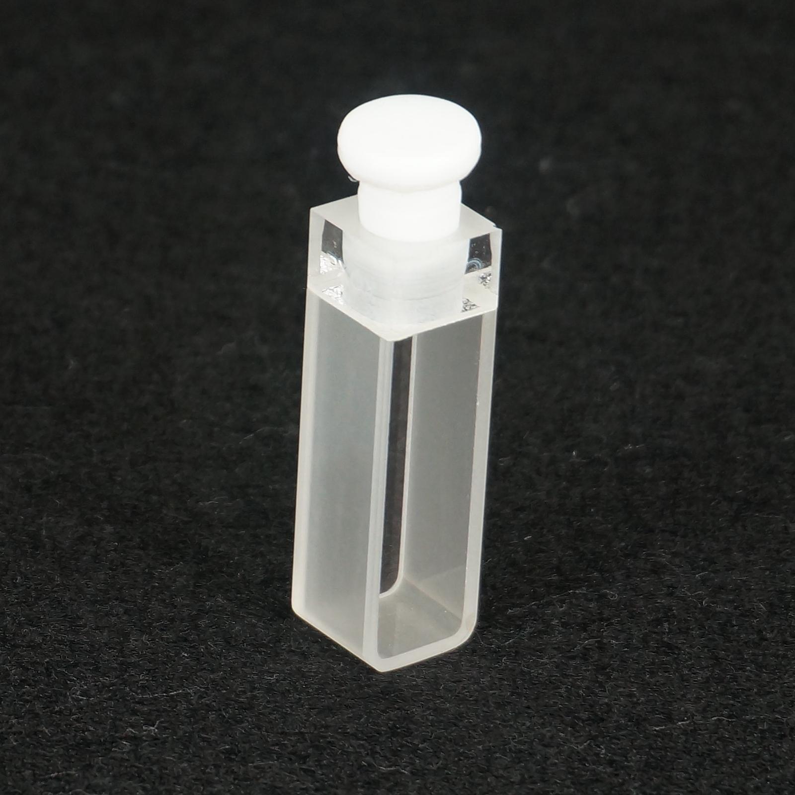 10mm Path Length JGS1 Quartz Fluorescence Cell With Stopper For Uv Spectrometer 1pcs 5mm path length jgs1 quartz cuvette cell with with screw cap for spectrometer 4 widows