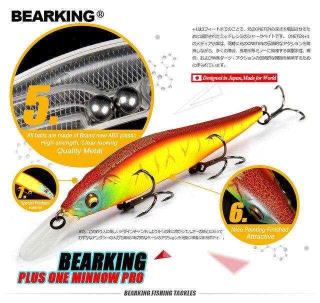 Grande remise! leurres de pêche au détail, couleurs assorties qualité vairon 110mm 14g, boule de tungstène barbu 2017 modèle manivelle appât