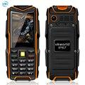 Original vkworld pedra v3 telefone móvel dustproof dropproof à prova d' água ip67 2.4 polegada dual sim 5200 mah 6531ca chave russa 64 mb