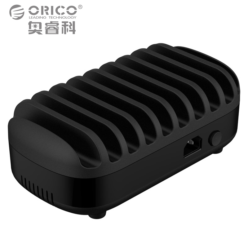 imágenes para ORICO 10 Puertos USB Cargador Dock Station con Soporte 120 W 5V2. 4A * 10 de Carga USB para el Teléfono Inteligente Tablet PC Aplicar para el Hogar Público