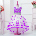 2017 Top Quality Princess Dress for Little Girl Long Dresses Sequins Ceremonies Wedding Gown Dress Flower Girl Vestido Nina Rose