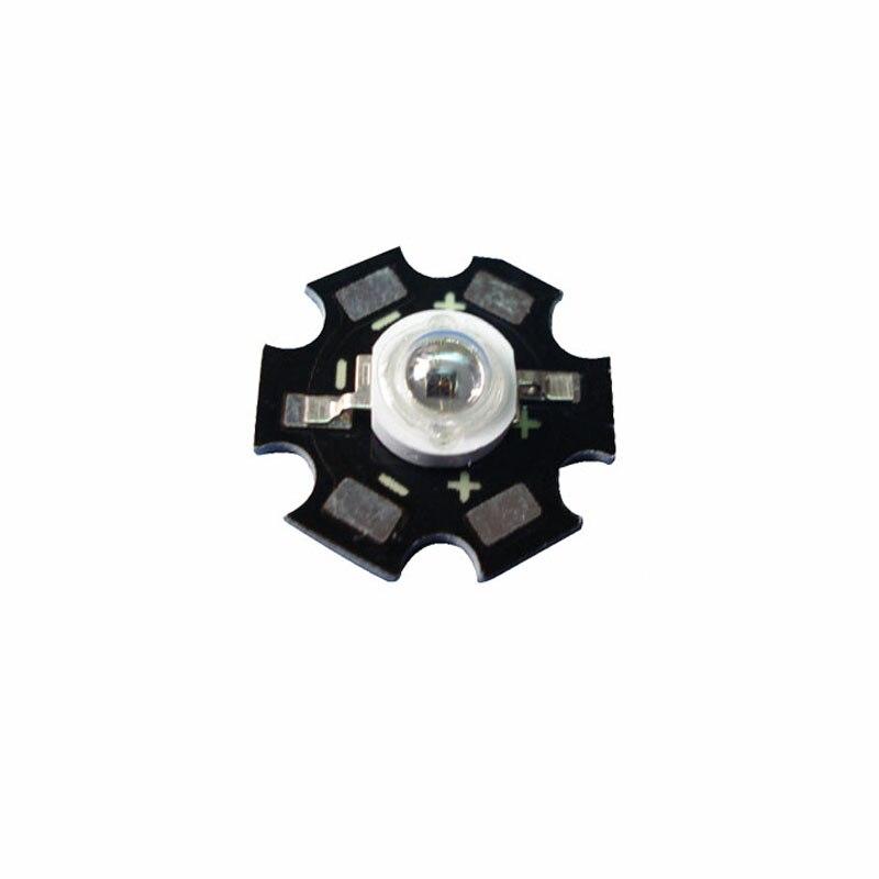 100X лучшее качество 3 Вт 850nm инфракрасный ИК высокой мощности Светодиодный светильник бусины с радиатором