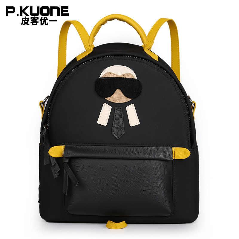 695fd52731 P.KUONE 2018 New Arrived Nylon Women Mini Backpack Famous Brand Shoulder  Bag Female High