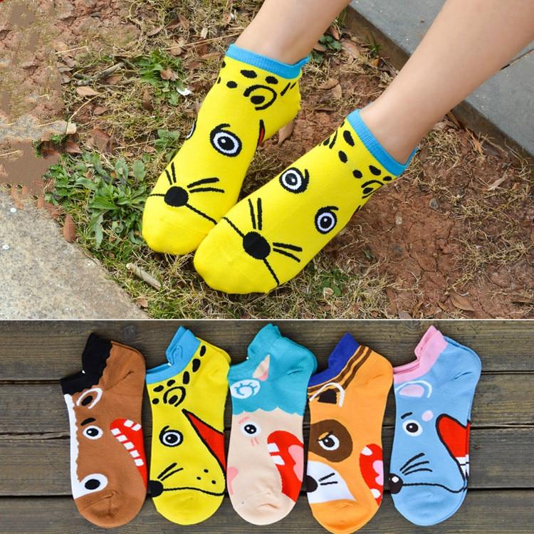Spring summer new ship socks cute cartoon ladies socks stereoscopic animal design socks pure cotton leisure socks