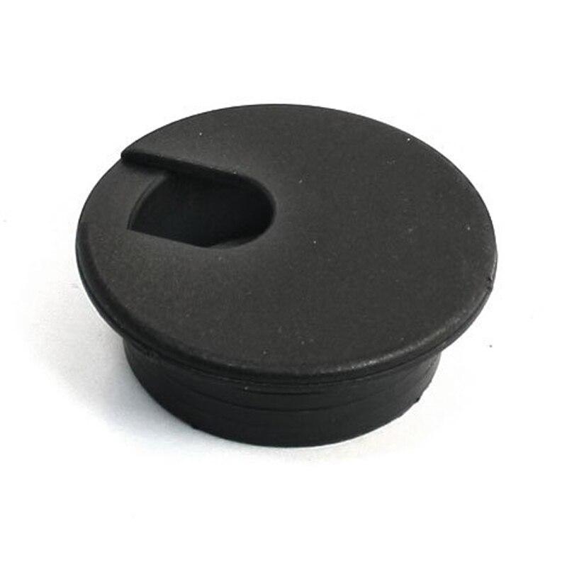 Black Round Plastic Computer Desk Cable Grommet Hole Cover 35mm 8PcsBlack Round Plastic Computer Desk Cable Grommet Hole Cover 35mm 8Pcs