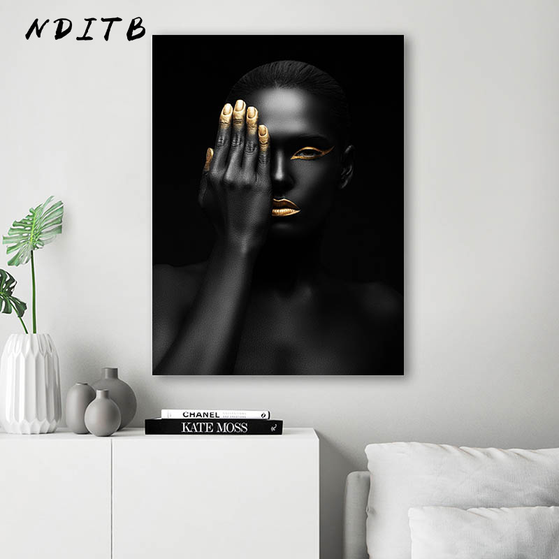 Black Whtie Dancing Girl Rose Canvas Poster Wall Art Print Nordic Style Picture