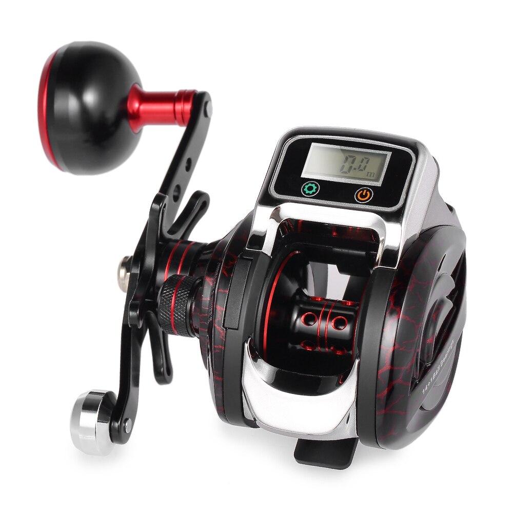 Fishing Line Counter Reel Fishing 14 1 BB Ball Bearing Bait Casting Baitcasting Reel GT 6