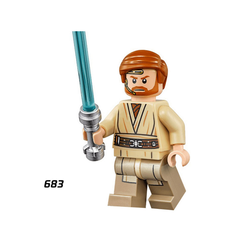 Single Sale Super Heroes Star Wars 683 Obi Wan Kenobi Mini Building Blocks Figure Brick Toys Kids Gift Compatible Legoed Ninjaed