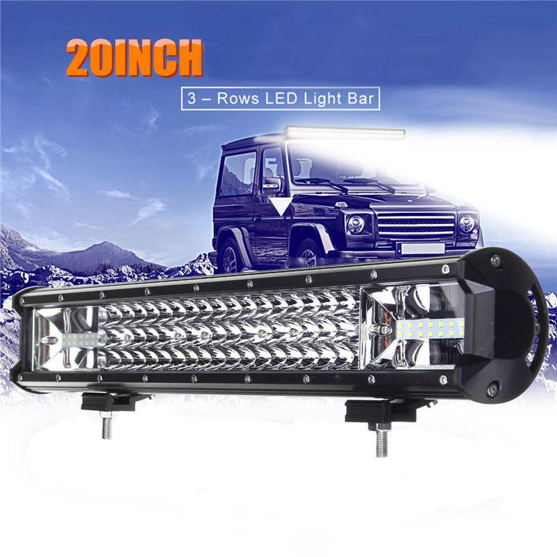 135W Offroad Driving Fog Lamp 20 Inch LED Work Light Bar Flood Lamp Spotlight Combo Car Truck Vehicle Car Light IP68 DC10-30V