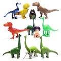 12 pçs/lote A Boa Figura de Ação Dinossauro de Brinquedo 3-7 cm Dos Desenhos Animados do PVC Figura Brinquedos Para Crianças Anime Brinqudoes