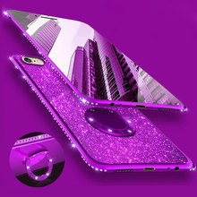 Bling do Diamante de Silicone Suave Caso Capa para o Samsung Galaxy S8 S8Plus S9 Plus S7 Borda 8 A5 2017 Nota Telefone casos Strass(China)
