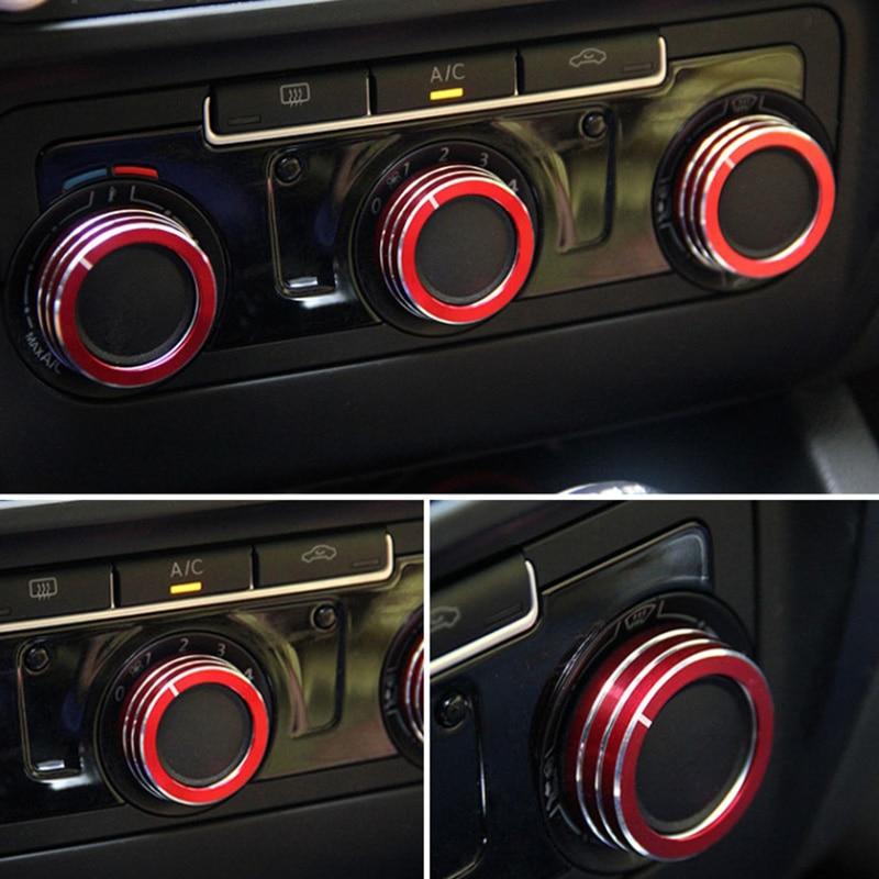 magasin britannique codes promo vente officielle US $8.69 21% OFF Case voor Volkswagen Golf 6 VW golf 6 MK6 GTI aluminium  accessoires AC bescherming knop decoratieve cirkel auto styling-in ...
