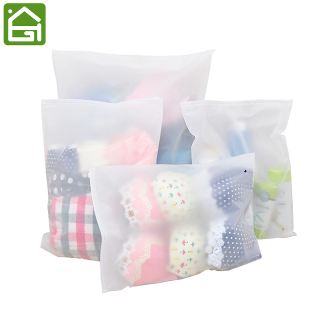 6Pieces Thick Waterproof Travel Clothes Toiletry Sealed Storage Bag Transparent EVA Packing Vacuum Bags for Clothing Shoe