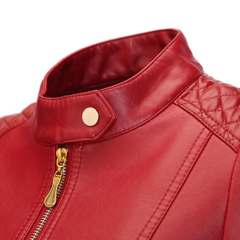 Flymokoii Կաշվե բաճկոն գարուն Plus Plus Չափ 4XL - Կանացի հագուստ - Լուսանկար 3