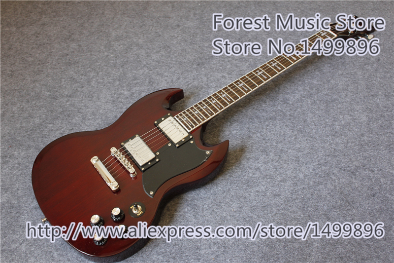 Hot Selling Aged Cherry Finish Tony Lommi SG Electric Guitars Mahogany Solid Body Left Handed Custom Available china custom shop transparant grey finish lp electric guitars with mahogany solid body for sale