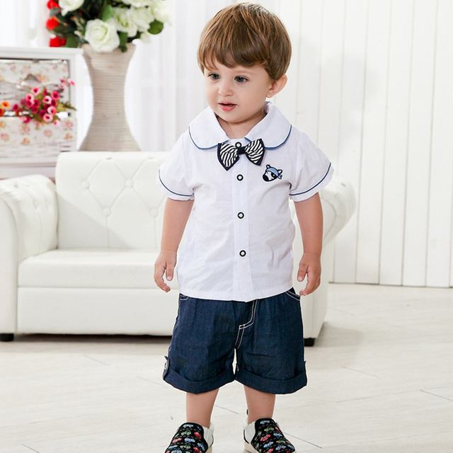 Summer Baby Boys Clothing Set,Fashion Short-Sleeve + Shorts Children's Casual Wear,Brand Cotton Kids Clothes (6 Months-3 Yrs)