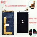 100% teste 6050 lcd para alcatel one touch idol 2 s 6050y ot6050 display lcd com painel de digitador da tela de toque