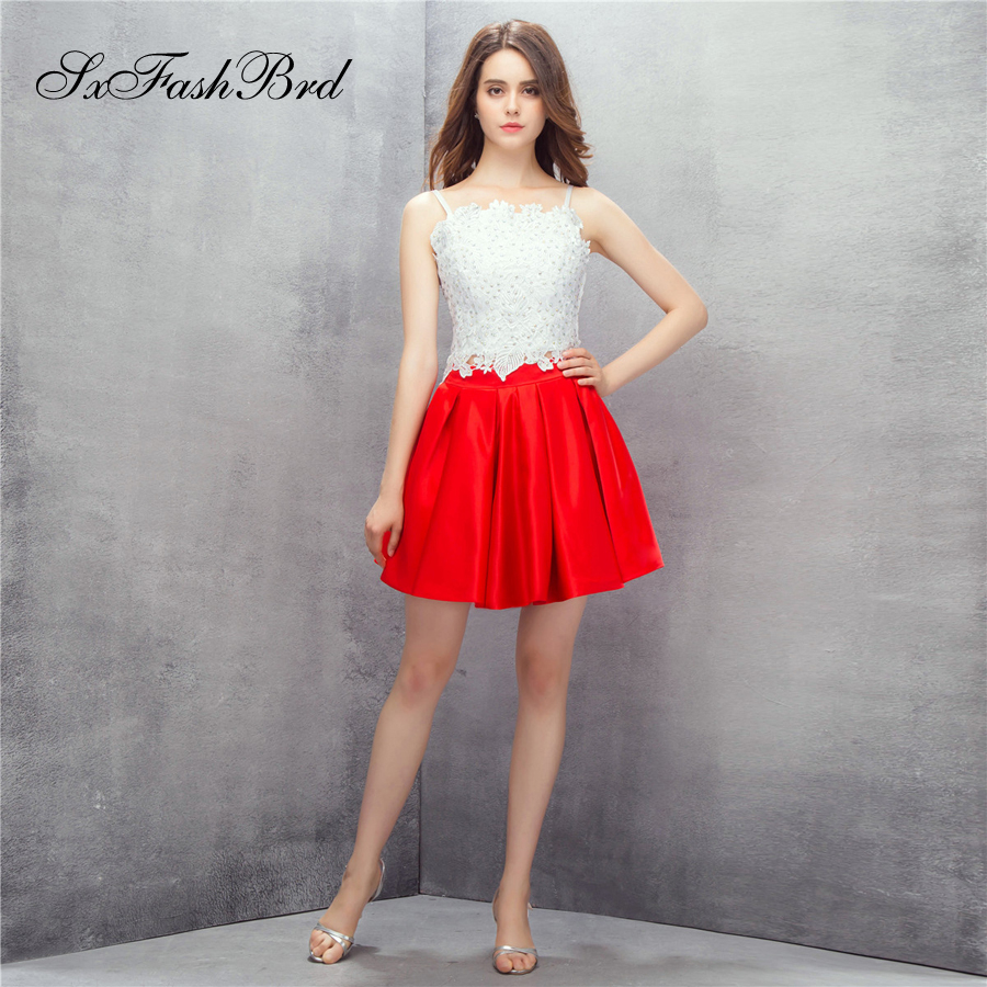 Robe Longue bateau cou Spaghetti sangle avec Appliques Mini court Satin formel robes élégantes pour les femmes soirée Robe de bal