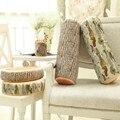 Design criativo simulação travesseiro toco de madeira travesseiro almofada redonda Cepo de Madeira da Textura Throw Pillow frete grátis