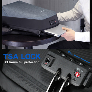 "Image 3 - 2020 tigernu新抗盗難15.6 ""ノートパソコンのバックパック男性大容量のusb充電トラベルビジネスバックパック男性無料バッグファッション"
